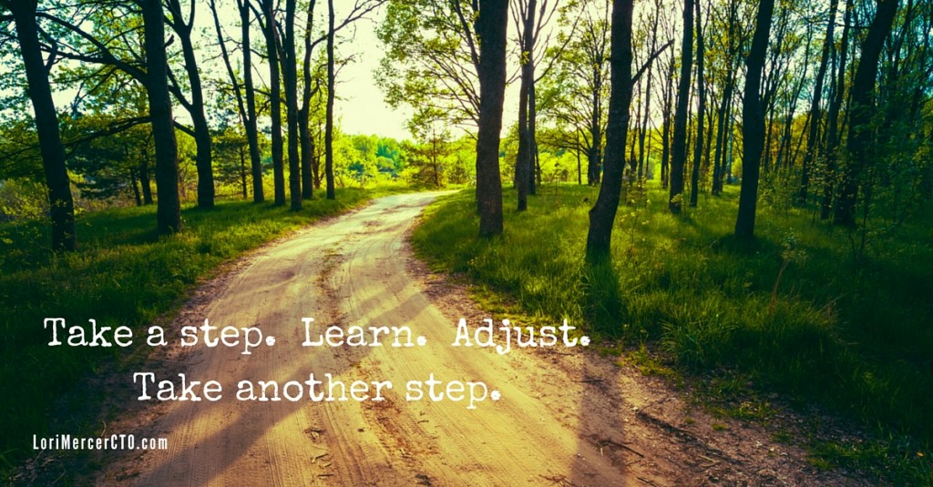 Take a step. Learn. Adjust.Take another step.